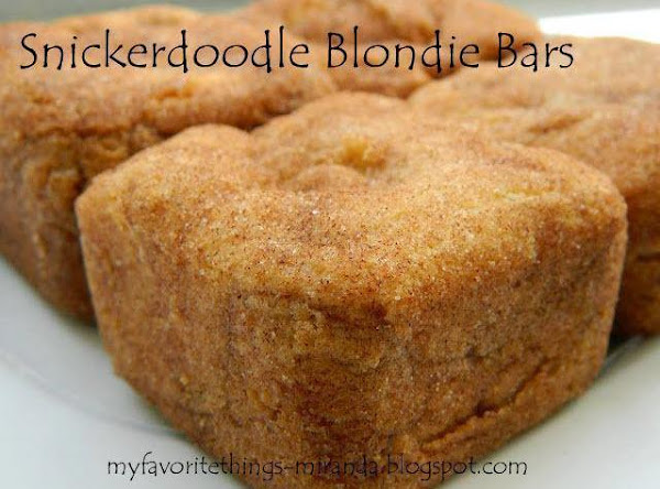 Snicker Doodle Blondie Bars Recipe