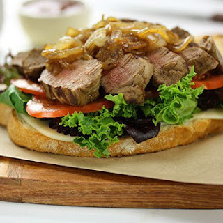Gourmet Steak Sandwich with Caramelised Onions