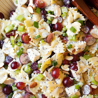 Poppy Seed Chicken and Grape Pasta Salad.