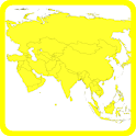 Blank map Asia icon