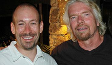Joe Polish and Richard Branson