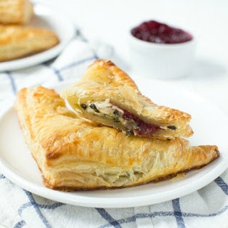 Turkey Cranberry Spinach and Artichoke Turnovers