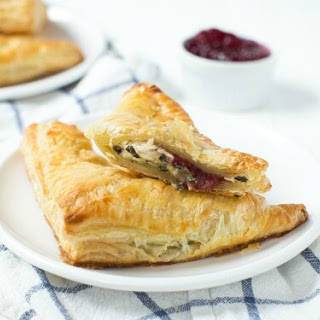 Turkey Cranberry Spinach and Artichoke Turnovers.