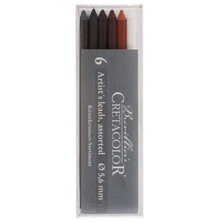 Creta 5,6mm Stiftset 6st sorterade
