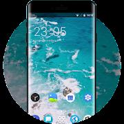 Theme for blue ocean beach moto z3 wallpaper icon