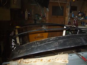 Photo: Holzspriegel wurde neu verleimt war in der Mitte aufgegangen.