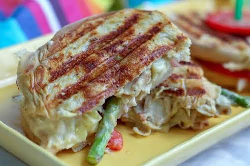 """Gar-licky Arti-chicky Sandwiches""""This little sandwich might sound fancy, but it's super easy..."""