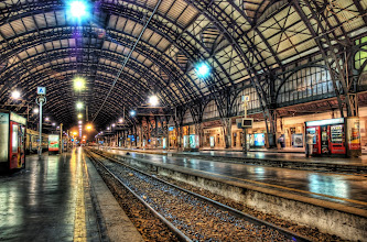 Photo: Milan Train Station at Midnight  from the blog at www.stuckincustoms.com