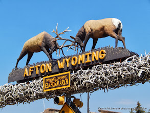 Photo: Afton, Wyoming Archway sign