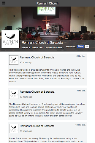 android Remnant Church of Sarasota Screenshot 1