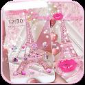 Theme Pink Paris Eiffel Tower icon