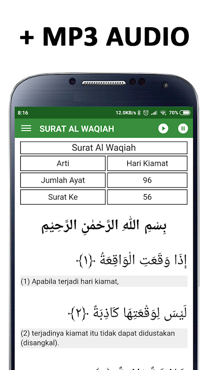 Surat Al Waqiah Mp3 Android App Appagg