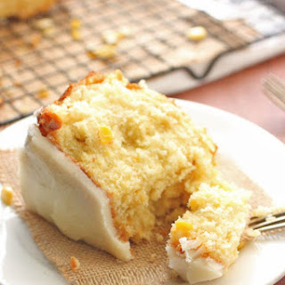 Sweet Corn Cake with Hot Butter Glaze