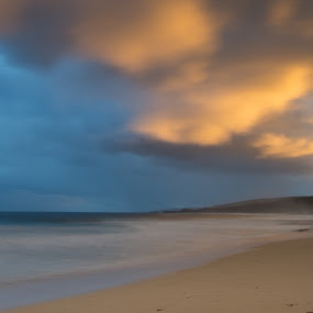 First Light by Greg Rowe - Landscapes Beaches ( dawn, indijup, weather, beach, storm )
