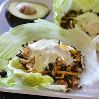 Turkey Santa Fe Lettuce Wraps.