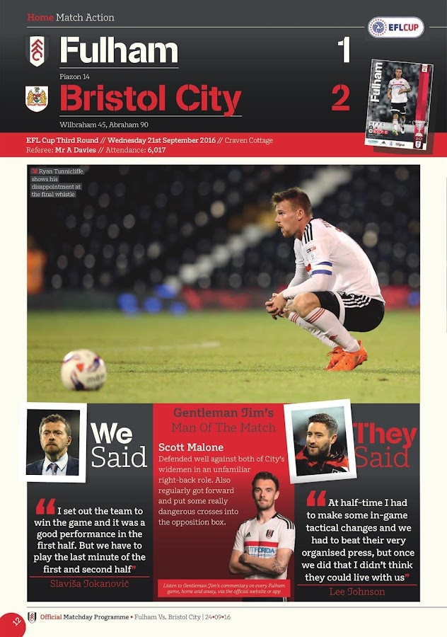 Fulham FC Programme- screenshot