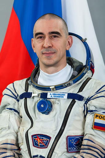 Official Suited portrait of Expedition 48 Russian cosmonaut Anatoly Ivanishin wearing a Russian Sokol launch.