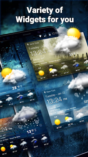 Weather Forecast Widget with Battery and Clock  screenshots 7