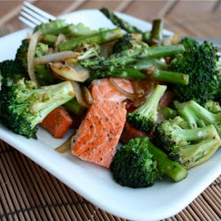 Salmon and Veggie Stir Fry