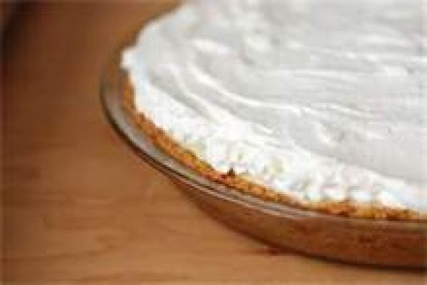 Pull pie out of frig and spread whip cream over the top of the...