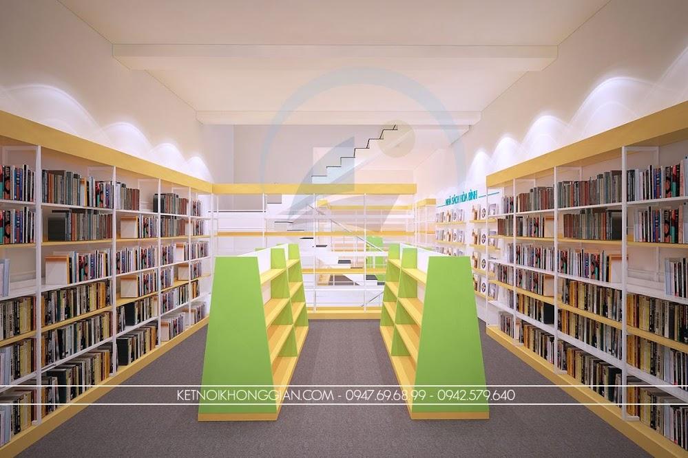 thiết kế nội thất nhà sách bền đẹp