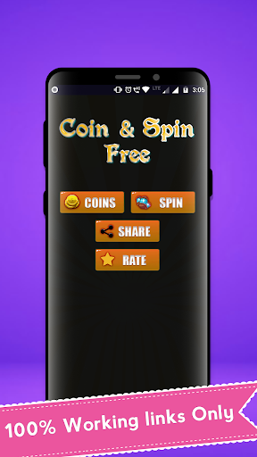 Free Coin and Spin Daily Link 1.0 screenshots 1