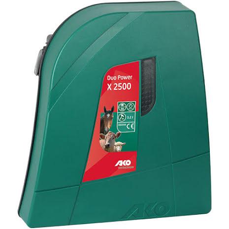 Elstängselaggregat AKO Duo Power X 2500 - 12 & 230 Volt