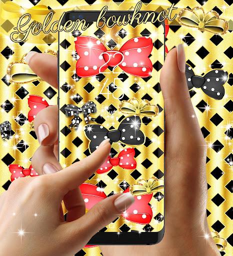 Golden bowknot live wallpaper 14.2 screenshots 1