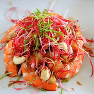 Spicy Shrimp and Torch Ginger Salad.