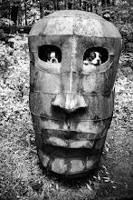 Photo: Puppy Eyes From Sculpture Park in 2007 (photo by +Nicole M. Stuart, I'm holding dogs up)  #SacredSunday by +Manfred Berndtgen +Robyn Morrison +Margaret Tompkins +Sherrie von Sternberg  #sculpturesunday by +Dirk Röber & +Kevin Burns - +Sculpture Sunday