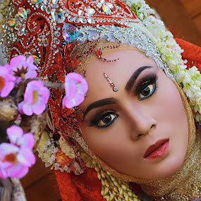 by Charles Mawa - People Portraits of Women ( photowall, photographic, beatiful, potrait, photograph, red flower, oriental, makeup, beautiful, beauty in nature, beauty, photo, women, photography, beautiful brides, make up, charlesmawa, original, photographer,  )