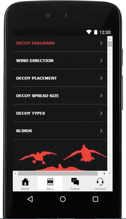 Duck Hunting App With Diagrams- screenshot