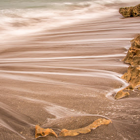 Relaxing Waves by Eduardo Llerandi - Landscapes Waterscapes ( water, lines, ocean, relaxation, rocks, relax, tranquil, relaxing, tranquility )