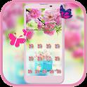 Spring Flower Theme pink flower icon
