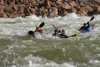 Photo: Paddling as a team is a great thing but...