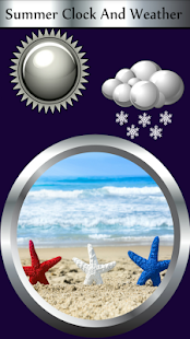 Summer Clock And Weather - náhled