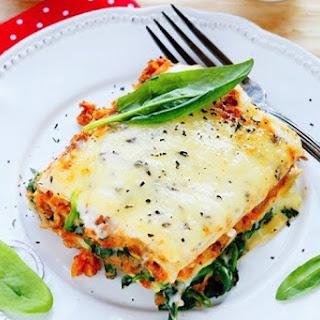 Slow Cooker Cheesy Spinach Lasagna Recipe