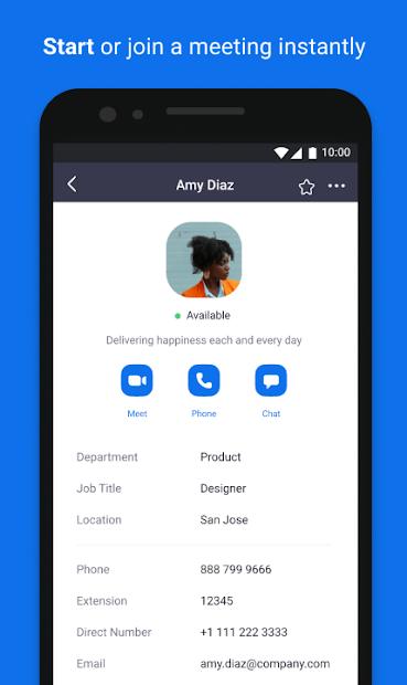 ZOOM Cloud Meetings Android App Screenshot