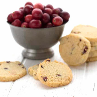 Low Carb Cranberry Orange Shortbread Recipe