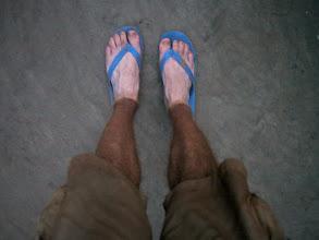 Photo: clean feet vs dusty legs