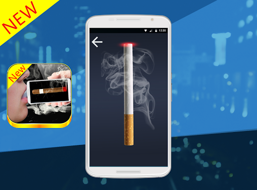 Virtual cigarette smoking