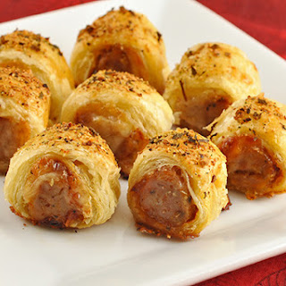 Pastry-Wrapped Sausage Bites.