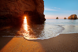 Photo: http://bit.ly/GKtBS8 : Sunrise at one of the most beautiful beaches of Lagos, Portugal. [1024x683] :