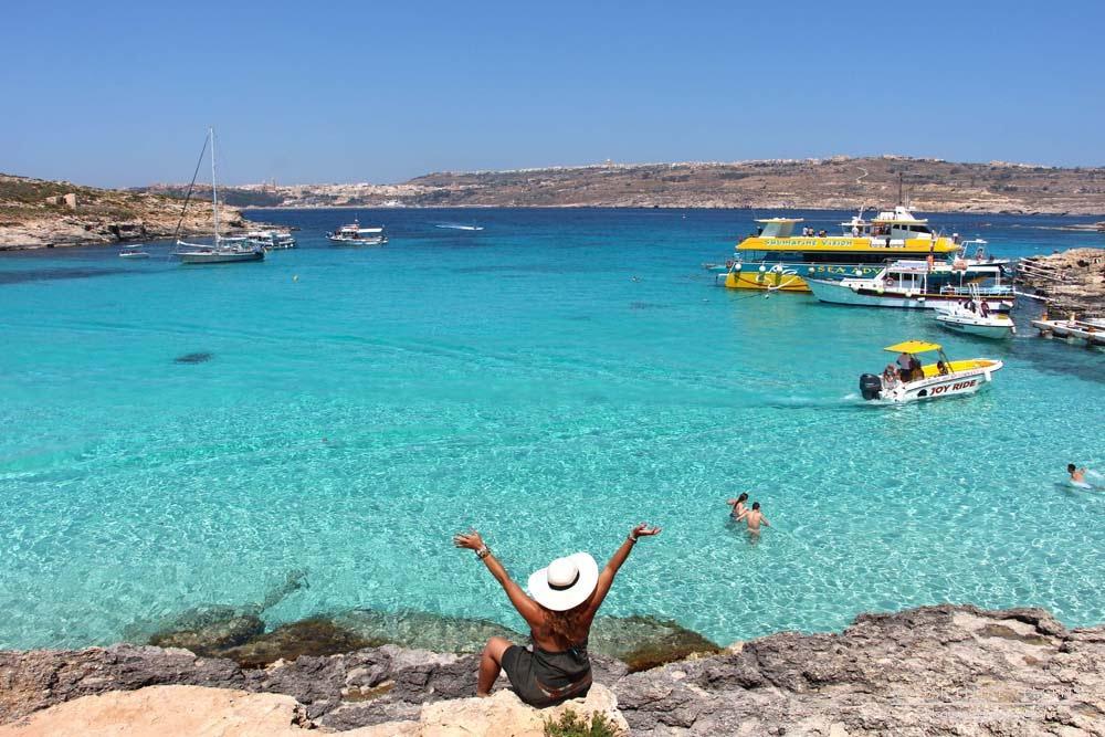 Tudo o que precisa de saber para visitar a Lagoa Azul em Comino | Malta