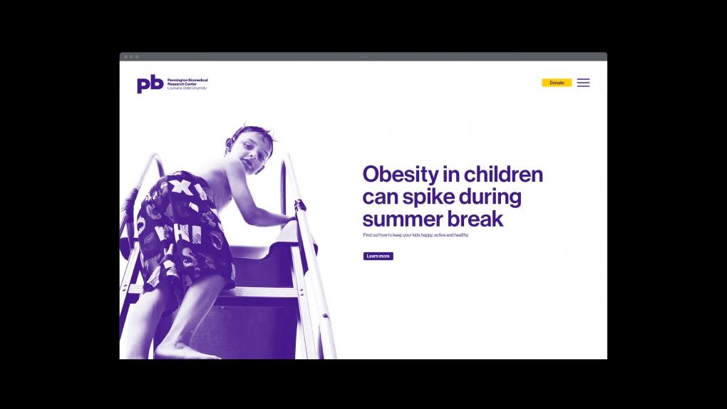 Pennington Biomedical Website Childhood Obesity
