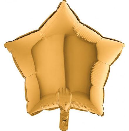 Folieballong Stjärna guld