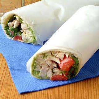 Guacamole Chicken Wraps.