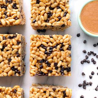 Almond Butter Brown Rice Crispy Treats.