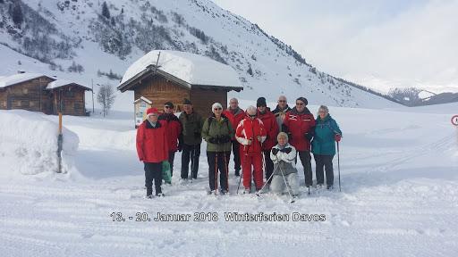 Gruppenfoto aus den Winterferien 2018 in Davos