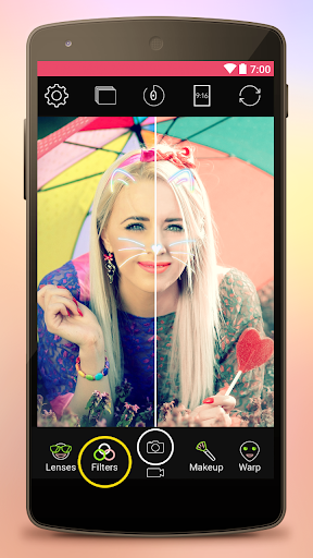 Yoplala sweet filter camera to snap video & photo  screenshots 3